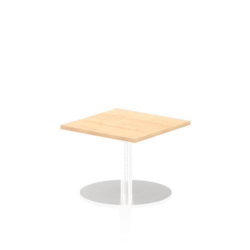 Italia Poseur Table Square 600/600 Top 475 High Maple