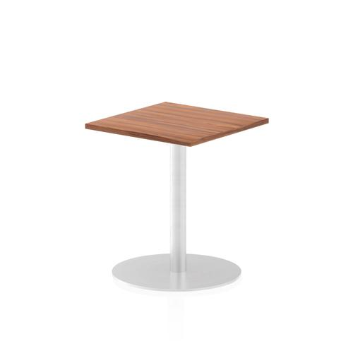 Italia Poseur Table Square 600/600 Top 725 High Walnut
