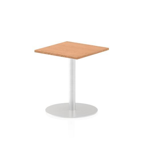 Italia Poseur Table Square 600/600 Top 725 High Oak