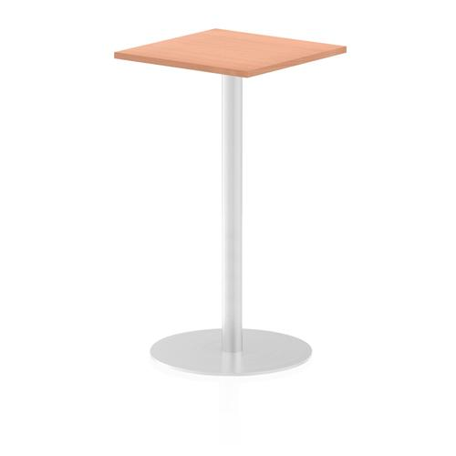 Italia Poseur Table Square 600/600 Top 1145 High Beech