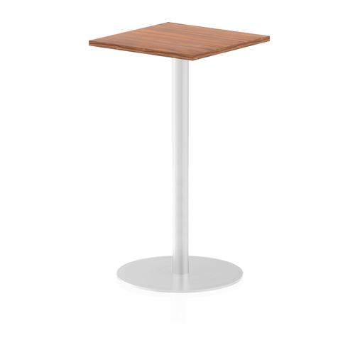 Italia Poseur Table Square 600/600 Top 1145 High Walnut