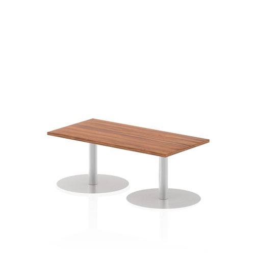 Italia 1200 x 600mm Poseur Rectangular Table Walnut Top 475mm High Leg