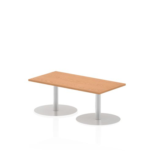 Italia 1200 x 600mm Poseur Rectangular Table Oak Top 475mm High Leg