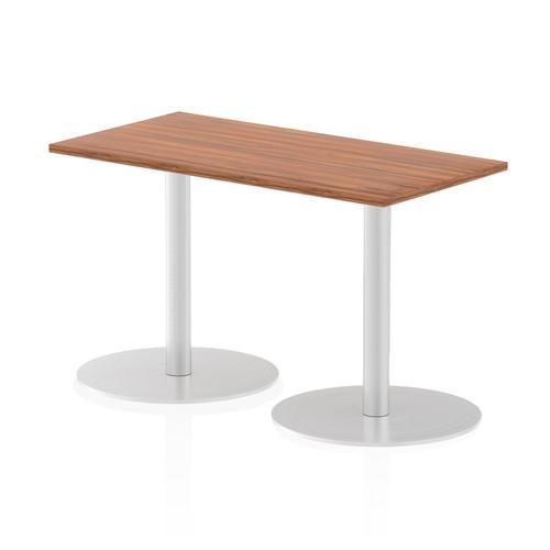 Italia Poseur Table Rectangle 1200/600 Top 725 High Walnut