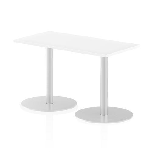 Italia Poseur Table Rectangle 1200/600 Top 725 High White