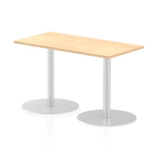 Italia Poseur Table Rectangle 1200/600 Top 725 High Maple