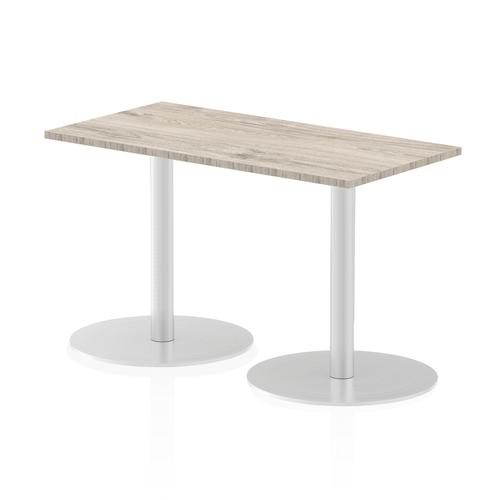 Italia Poseur Table Rectangle 1200/600 Top 725 High Grey Oak