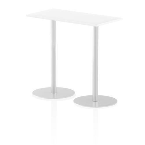 Italia Poseur Table Rectangle 1200/600 Top 1145 High White