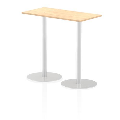 Italia Poseur Table Rectangle 1200/600 Top 1145 High Maple
