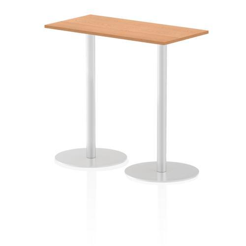 Italia Poseur Table Rectangle 1200/600 Top 1145 High Oak