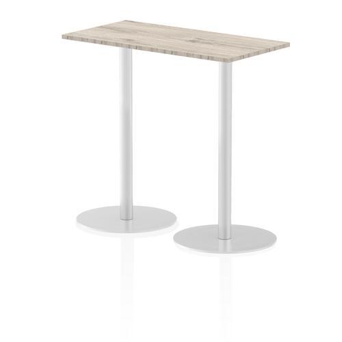 Italia Poseur Table Rectangle 1200/600 Top 1145 High Grey Oak