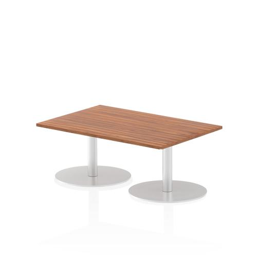 Italia Poseur Table Rectangle 1200/800 Top 475 High Walnut