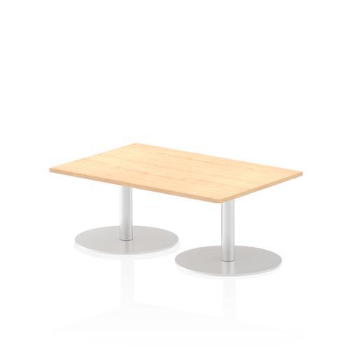 Italia Poseur Table Rectangle 1200/800 Top 475 High Maple