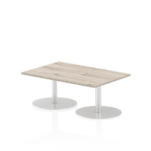 Italia Poseur Table Rectangle 1200/800 Top 475 High Grey Oak