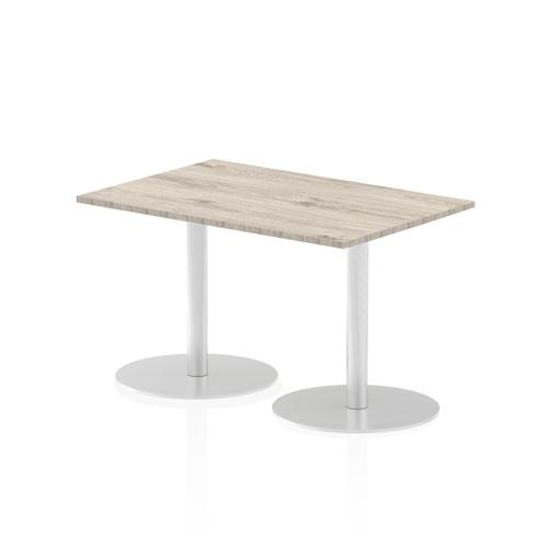 Italia Poseur Table Rectangle 1200/800 Top 725 High Grey Oak
