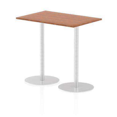 Italia Poseur Table Rectangle 1200/800 Top 1145 High Walnut