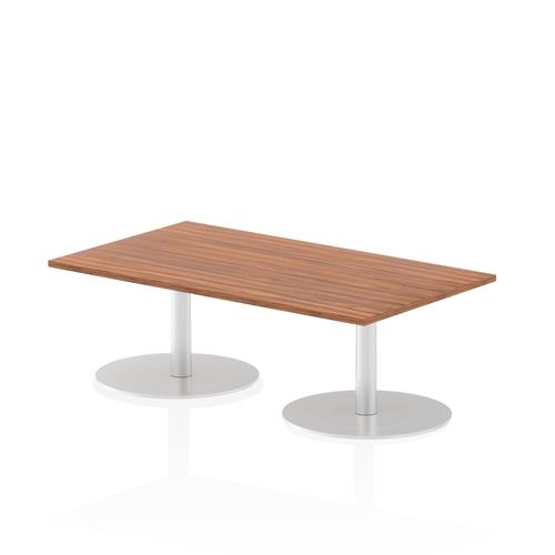 Italia Poseur Table Rectangle 1400/800 Top 475 High Walnut