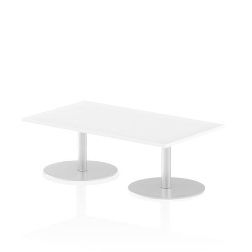 Italia Poseur Table Rectangle 1400/800 Top 475 High White