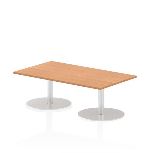 Italia Poseur Table Rectangle 1400/800 Top 475 High Oak