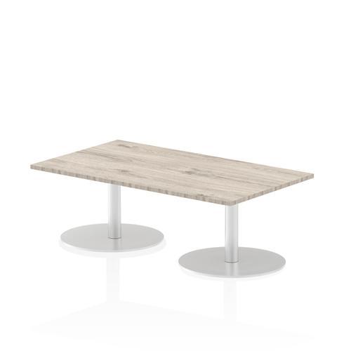 Italia Poseur Table Rectangle 1400/800 Top 475 High Grey Oak