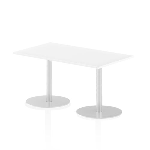 Italia Poseur Table Rectangle 1400/800 Top 725 High White
