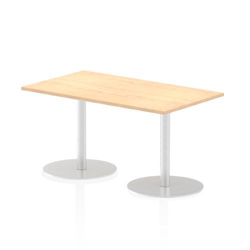 Italia Poseur Table Rectangle 1400/800 Top 725 High Maple