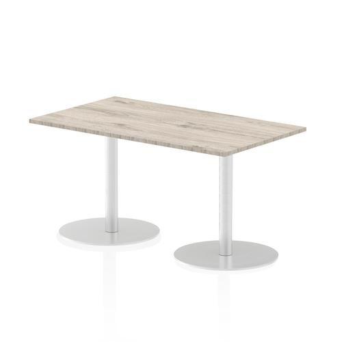 Italia Poseur Table Rectangle 1400/800 Top 725 High Grey Oak