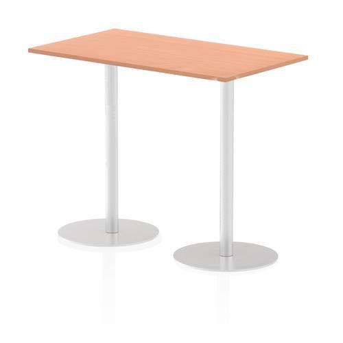 Italia Poseur Table Rectangle 1400/800 Top 1145 High Beech