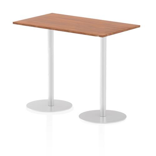Italia Poseur Table Rectangle 1400/800 Top 1145 High Walnut