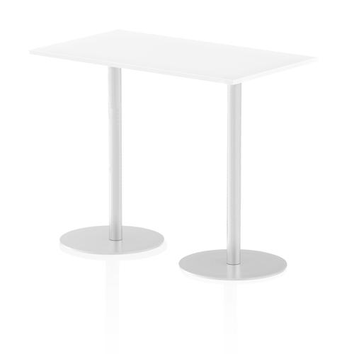 Italia Poseur Table Rectangle 1400/800 Top 1145 High White
