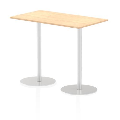 Italia Poseur Table Rectangle 1400/800 Top 1145 High Maple
