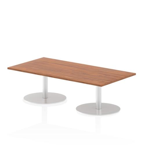 Italia Poseur Table Rectangle 1600/800 Top 475 High Walnut