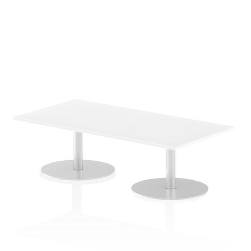 Italia Poseur Table Rectangle 1600/800 Top 475 High White