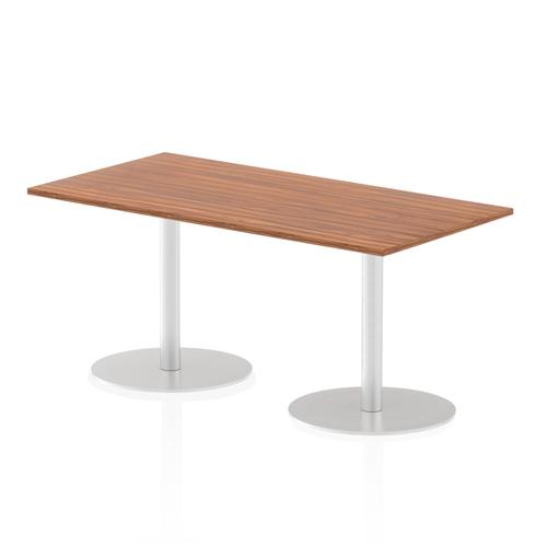 Italia Poseur Table Rectangle 1600/800 Top 725 High Walnut