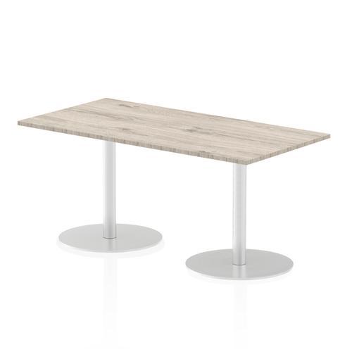 Italia Poseur Table Rectangle 1600/800 Top 725 High Grey Oak