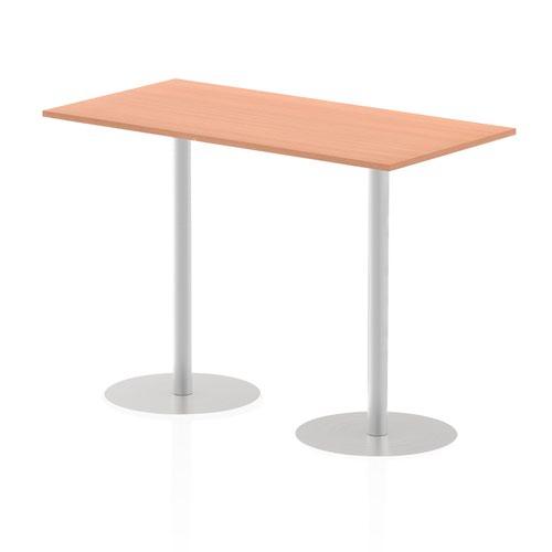 Italia 1600 x 800mm Poseur Rectangular Table Beech Top 1145mm High Leg