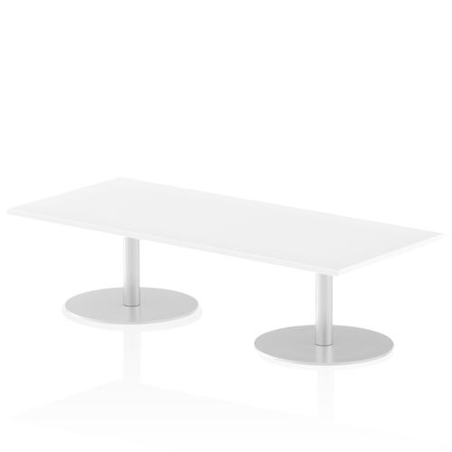 Italia Poseur Table Rectangle 1800/800 Top 475 High White