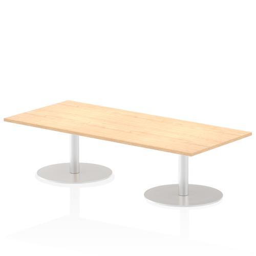 Italia Poseur Table Rectangle 1800/800 Top 475 High Maple