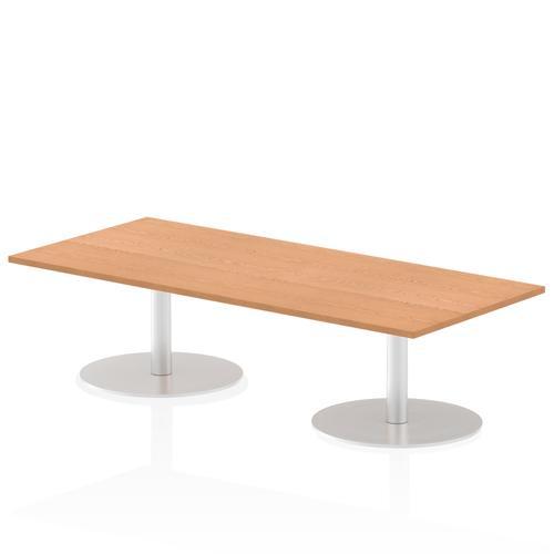 Italia Poseur Table Rectangle 1800/800 Top 475 High Oak