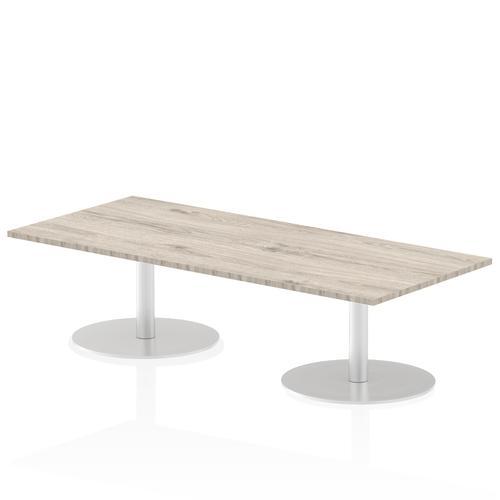 Italia Poseur Table Rectangle 1800/800 Top 475 High Grey Oak