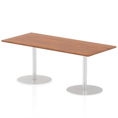 Italia Poseur Table Rectangle 1800/800 Top 725 High Walnut