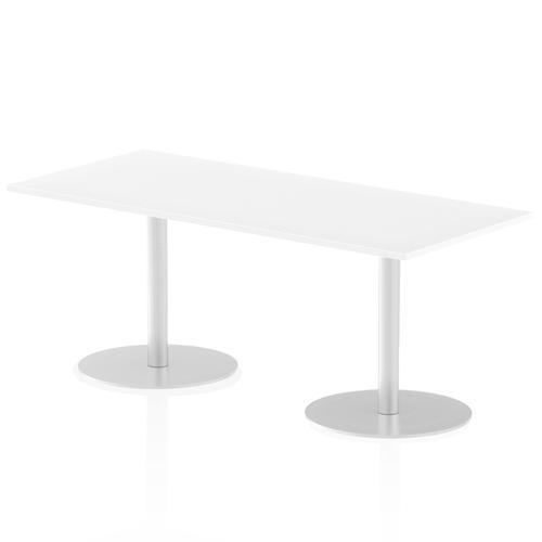 Italia Poseur Table Rectangle 1800/800 Top 725 High White