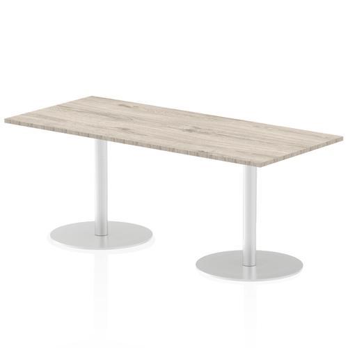 Italia Poseur Table Rectangle 1800/800 Top 725 High Grey Oak