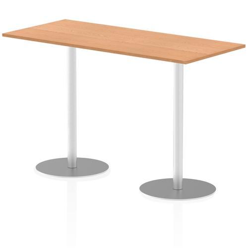 Italia Poseur Table Rectangle 1800/800 Top 1145 High Oak