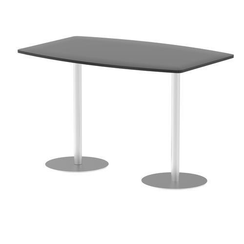 Italia Poseur Table High Gloss 1800 Top 1145 High Black