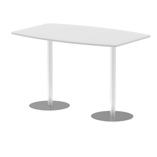 Italia Poseur Table High Gloss 1800 Top 1145 High White