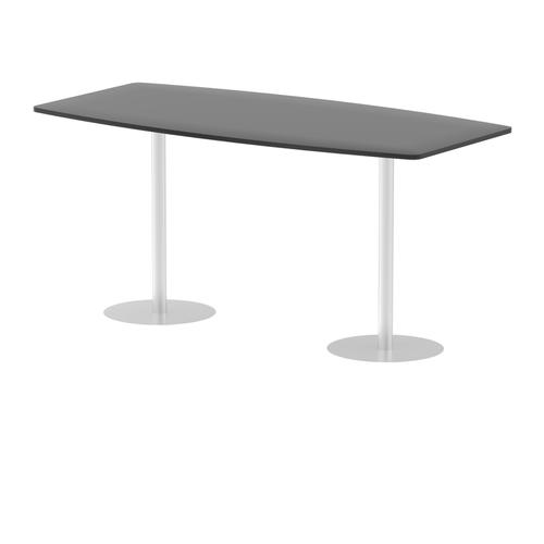 Italia Poseur Table High Gloss 2400 Top 1145 High Black