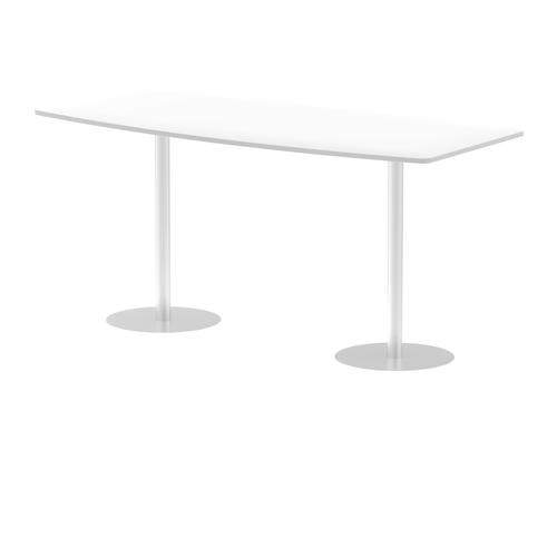 Italia Poseur Table High Gloss 2400 Top 1145 High White