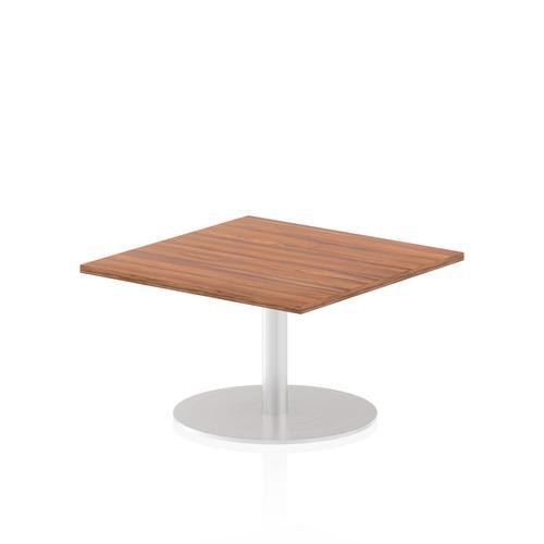 Italia Poseur Table Square 800/800 Top 475 High Walnut