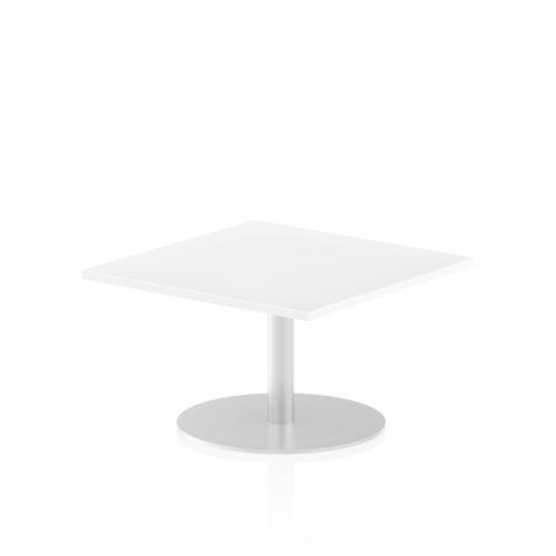 Italia Poseur Table Square 800/800 Top 475 High White
